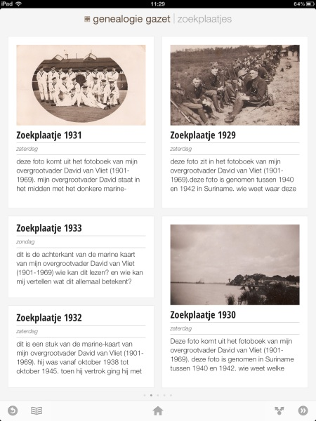 Genealogie Gazet op de iPad - view 6