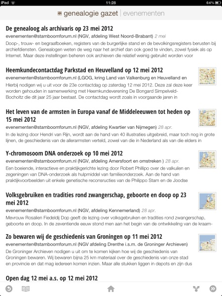 Genealogie Gazet op de iPad - view 7